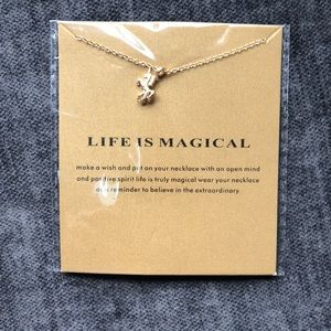 14k Gold Dipped Magical Life Unicorn Necklace